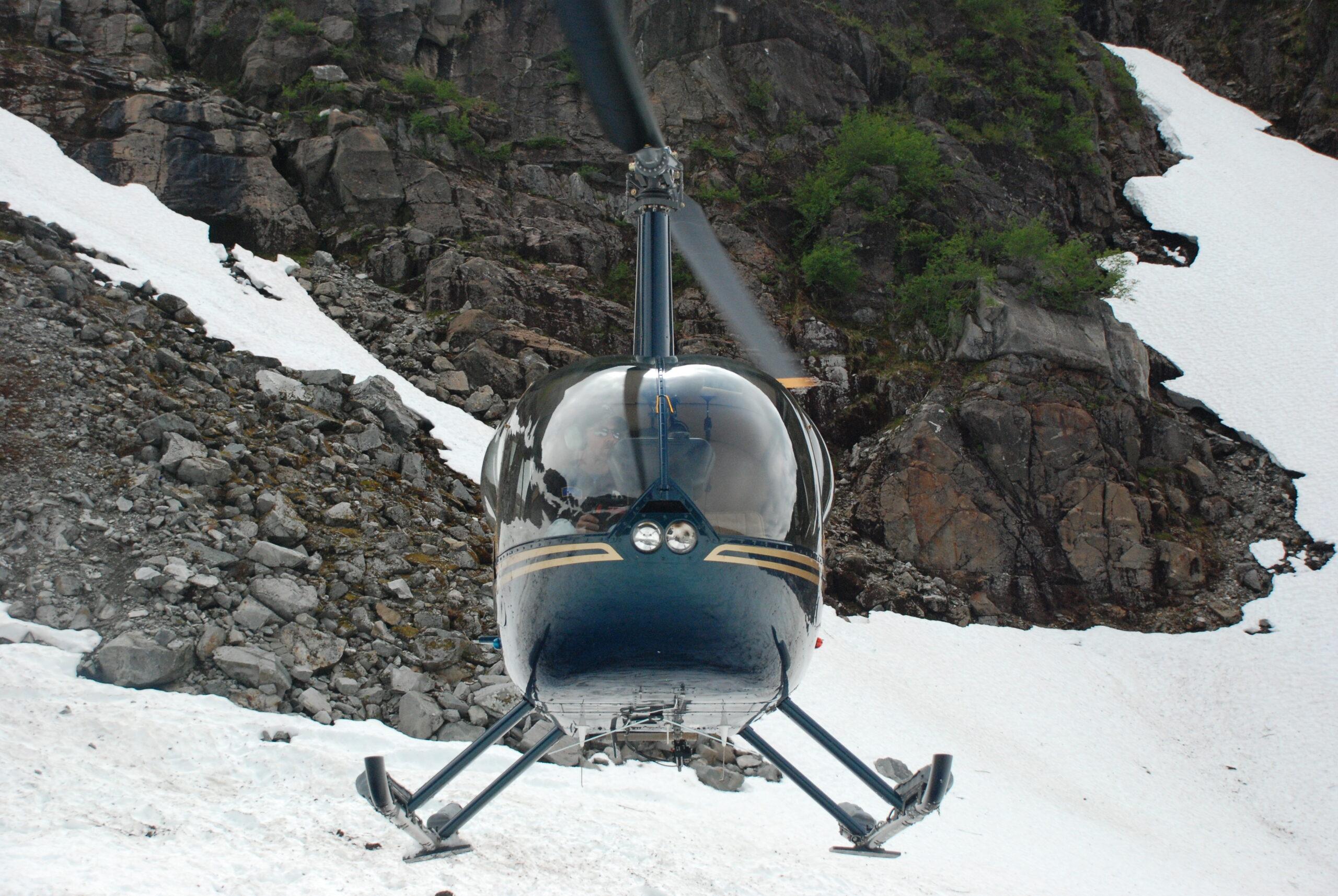 Alaska helicopter fishing